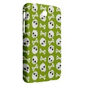 Skull Bone Mask Face White Green Samsung Galaxy Tab 3 (7 ) P3200 Hardshell Case  View2