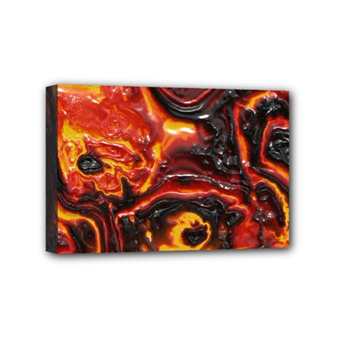 Lava Active Volcano Nature Mini Canvas 6  X 4  by Alisyart