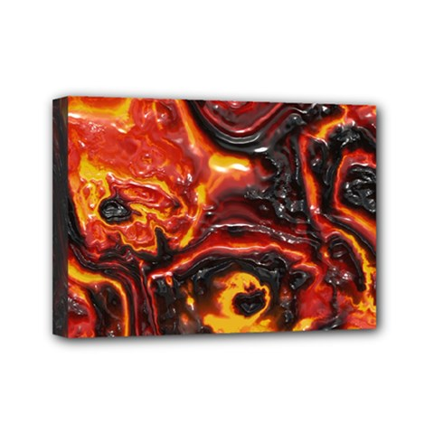 Lava Active Volcano Nature Mini Canvas 7  X 5  by Alisyart