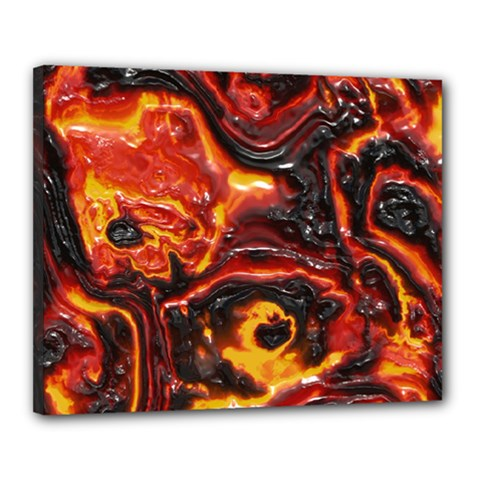 Lava Active Volcano Nature Canvas 20  X 16  by Alisyart