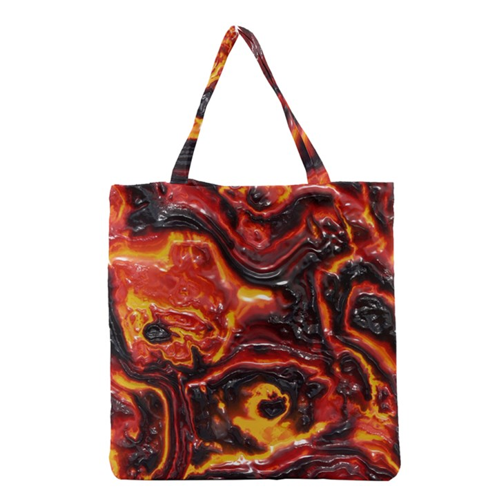 Lava Active Volcano Nature Grocery Tote Bag