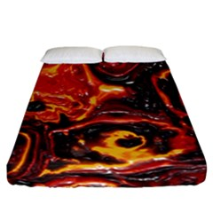 Lava Active Volcano Nature Fitted Sheet (california King Size) by Alisyart