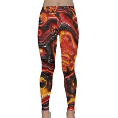 Lava Active Volcano Nature Classic Yoga Leggings by Alisyart