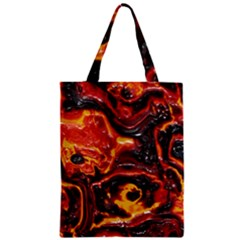 Lava Active Volcano Nature Zipper Classic Tote Bag by Alisyart