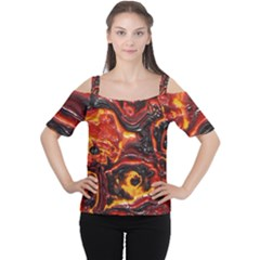 Lava Active Volcano Nature Cutout Shoulder Tee by Alisyart
