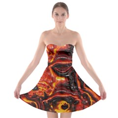 Lava Active Volcano Nature Strapless Bra Top Dress