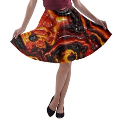 Lava Active Volcano Nature A Line Skater Skirt