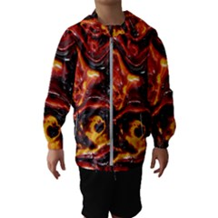 Lava Active Volcano Nature Hooded Wind Breaker (kids) by Alisyart