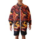 Lava Active Volcano Nature Wind Breaker (Kids) View1