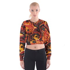 Lava Active Volcano Nature Cropped Sweatshirt