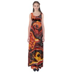 Lava Active Volcano Nature Empire Waist Maxi Dress by Alisyart