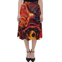 Lava Active Volcano Nature Folding Skater Skirt by Alisyart