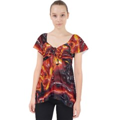 Lava Active Volcano Nature Lace Front Dolly Top