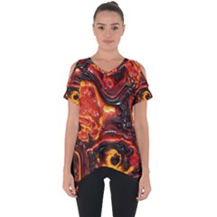 Lava Active Volcano Nature Cut Out Side Drop Tee