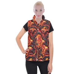 Lava Active Volcano Nature Women s Button Up Puffer Vest by Alisyart