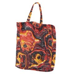 Lava Active Volcano Nature Giant Grocery Zipper Tote
