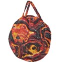 Lava Active Volcano Nature Giant Round Zipper Tote View1