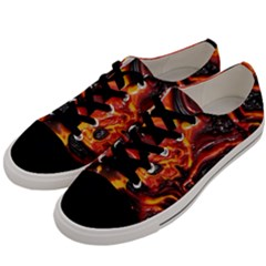 Lava Active Volcano Nature Men s Low Top Canvas Sneakers by Alisyart