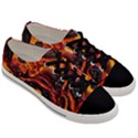 Lava Active Volcano Nature Men s Low Top Canvas Sneakers View3