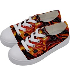 Lava Active Volcano Nature Kids  Low Top Canvas Sneakers by Alisyart