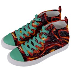Lava Active Volcano Nature Women s Mid Top Canvas Sneakers by Alisyart