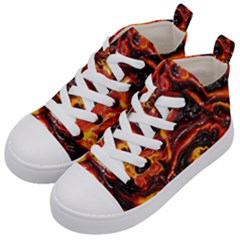 Lava Active Volcano Nature Kid s Mid Top Canvas Sneakers by Alisyart