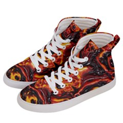 Lava Active Volcano Nature Men s Hi Top Skate Sneakers by Alisyart