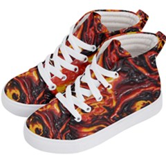 Lava Active Volcano Nature Kid s Hi Top Skate Sneakers by Alisyart
