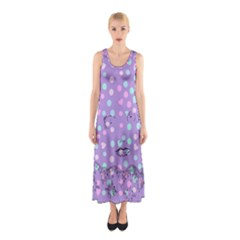 Little Face Sleeveless Maxi Dress