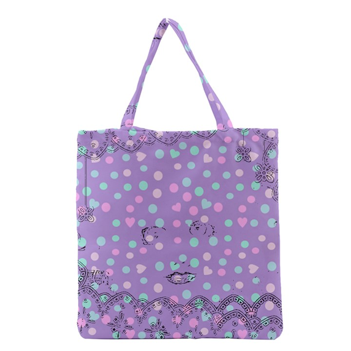 Little Face Grocery Tote Bag