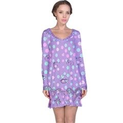 Little Face Long Sleeve Nightdress