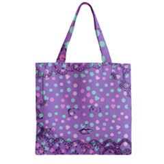Little Face Zipper Grocery Tote Bag