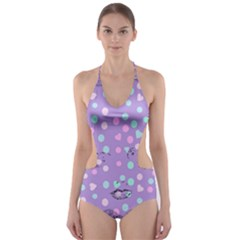 Little Face Cut-Out One Piece Swimsuit