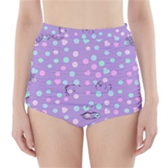 Little Face High-Waisted Bikini Bottoms
