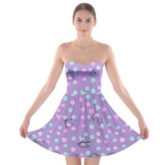 Little Face Strapless Bra Top Dress
