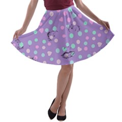 Little Face A-line Skater Skirt