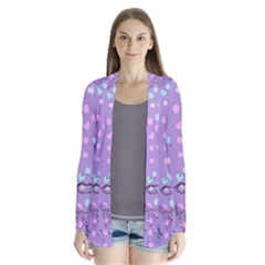 Little Face Drape Collar Cardigan