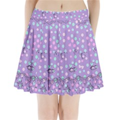 Little Face Pleated Mini Skirt