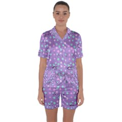 Little Face Satin Short Sleeve Pyjamas Set