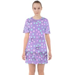Little Face Sixties Short Sleeve Mini Dress