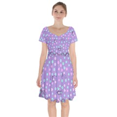 Little Face Short Sleeve Bardot Dress