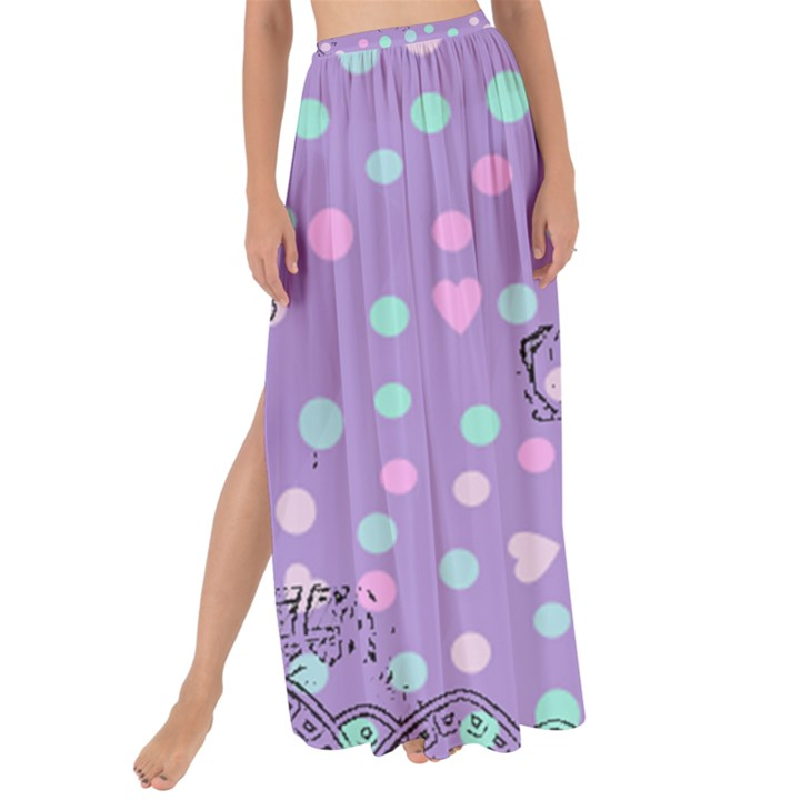 Little Face Maxi Chiffon Tie-Up Sarong