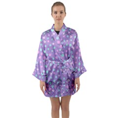 Little Face Long Sleeve Kimono Robe