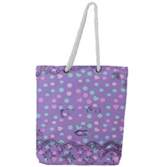 Little Face Full Print Rope Handle Tote (Large)