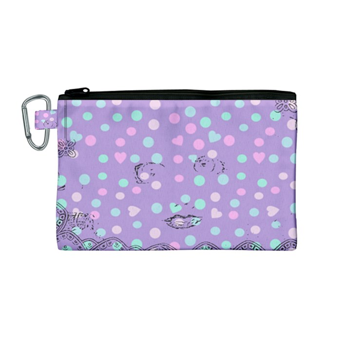 Little Face Canvas Cosmetic Bag (Medium)