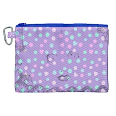 Little Face Canvas Cosmetic Bag (XL)