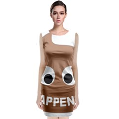 Poo Happens Classic Sleeveless Midi Dress