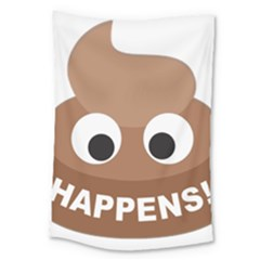 Poo Happens Large Tapestry by Vitalitee