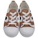 Poo Happens Kids  Low Top Canvas Sneakers View1