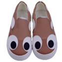 Poo Happens Kids  Canvas Slip Ons View1